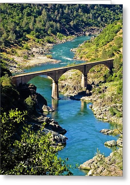 Greeting Card featuring the photograph No Hands Bridge by Sherri Meyer
