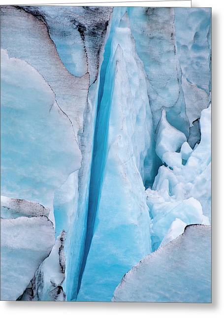 North America Usa Alaska Ice Formations Greeting Card by Terry Eggers