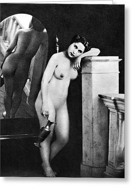 Nude Posing, C1850 Greeting Card