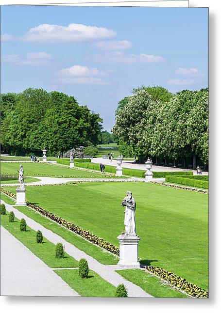 Nymphenburg Palace And Park In Munich Greeting Card by Martin Zwick