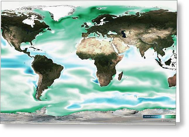 Ocean-atmosphere Co2 Exchange Greeting Card by Noaa