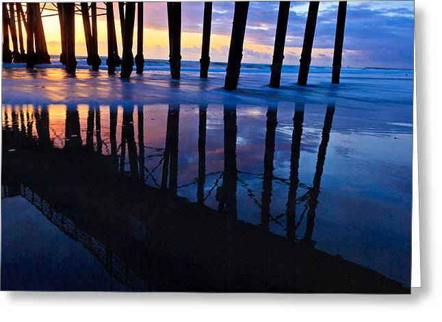 Oceanside Pier At Sunset Greeting Card