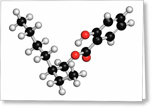 Octyl Salicylate Sunscreen Molecule Greeting Card by Molekuul