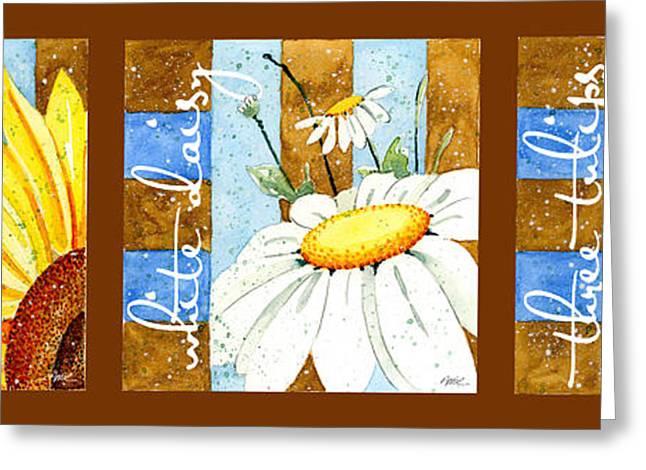 3 Of My Favorites Greeting Card by Annie Troe