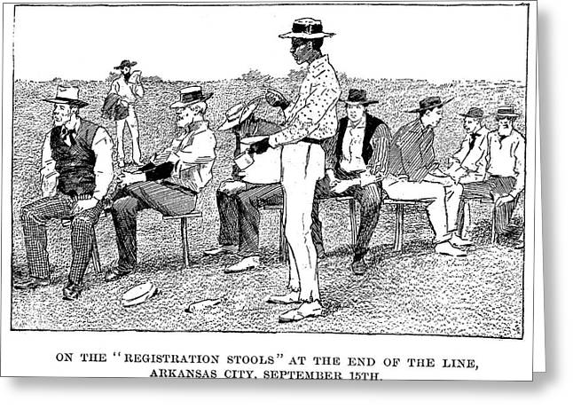 Oklahoma Land Rush, 1893 Greeting Card by Granger