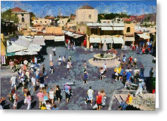 Old City Of Rhodes Greeting Card