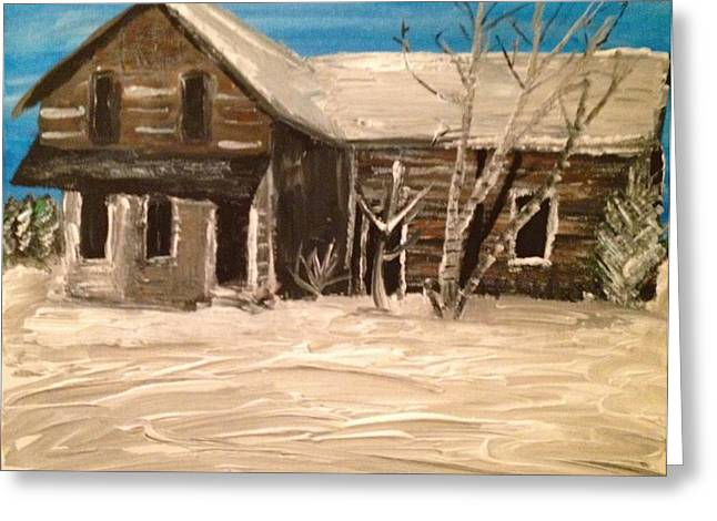 Greeting Card featuring the painting Old House by Paula Brown