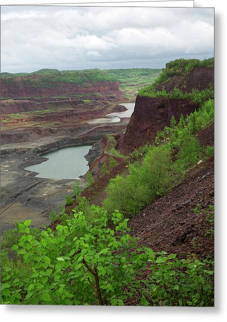 Open Pit Iron Mine Greeting Card