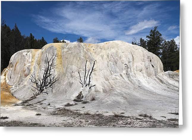 Orange Spring Mound Mammoth Hot Springs Yellowstone National Park Greeting Card