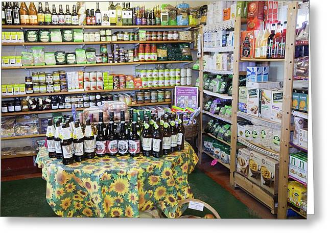 Organic Farm Shop Display Greeting Card