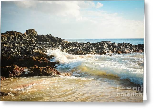 Paako Beach Makena Maui Hawaii Greeting Card by Sharon Mau