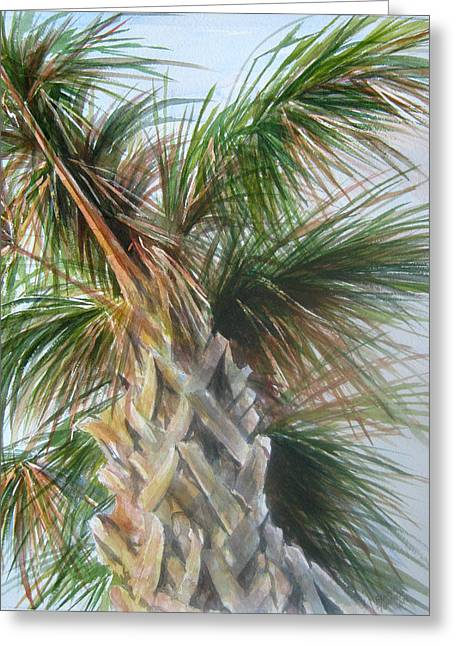 Palmetto 2011 Greeting Card by Gloria Turner