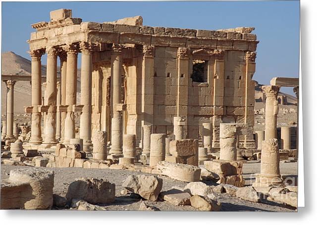 Palmyra, Syria Greeting Card by Catherine Ursillo