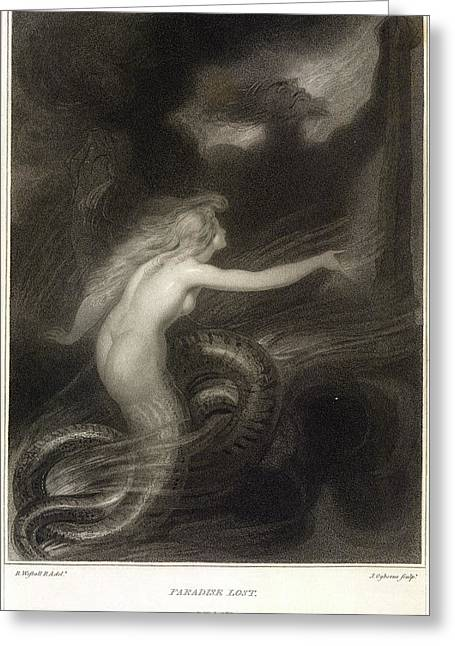 Paradise Lost Greeting Card by British Library