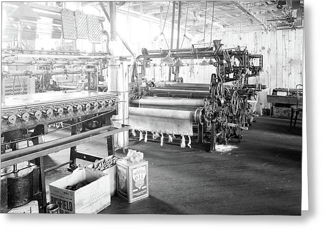 Paterson, New Jersey - Textiles. Idle Quilling Machines Greeting Card by Litz Collection