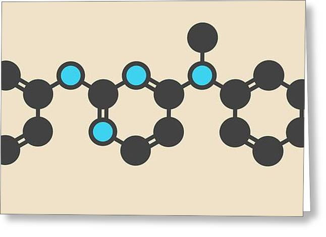 Pazopanib Cancer Drug Molecule Greeting Card by Molekuul