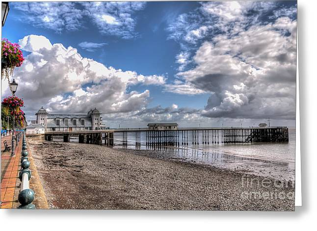 Penarth Pier 3 Greeting Card by Steve Purnell