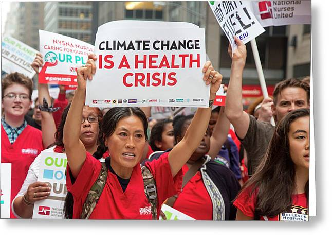 People's Climate March Greeting Card
