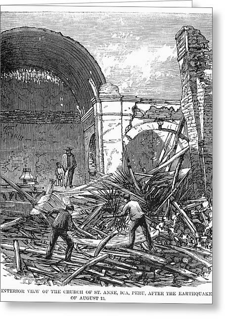 Peru Earthquake, 1868 Greeting Card by Granger