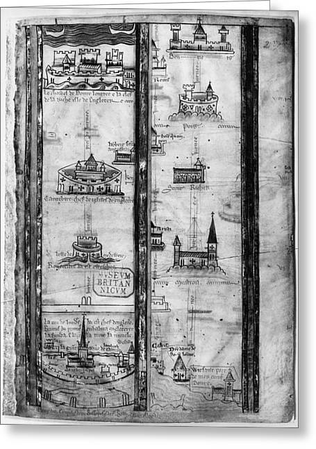 Pilgrims' Map, C1250 Greeting Card by Granger