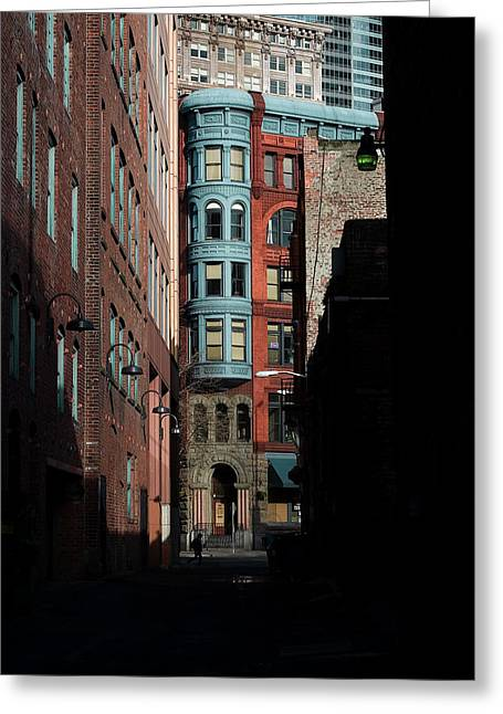 Pioneer Square Alleyway Greeting Card