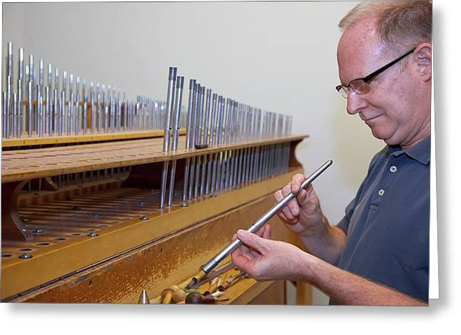 Pipe Organ Factory Greeting Card