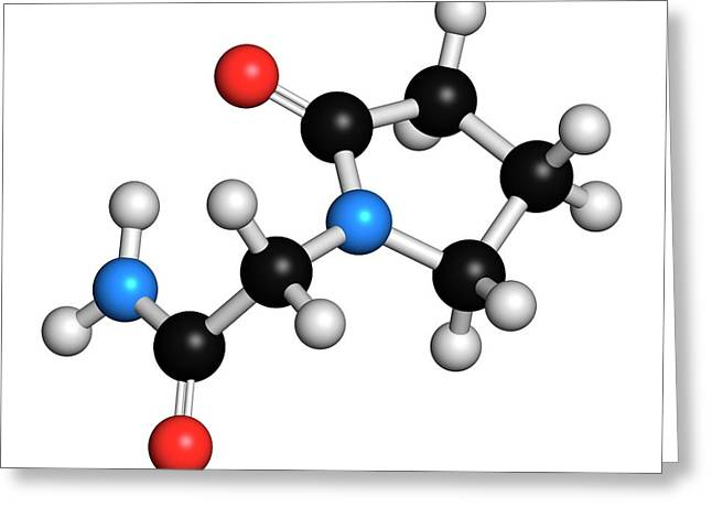 Piracetam Nootropic Drug Molecule Greeting Card