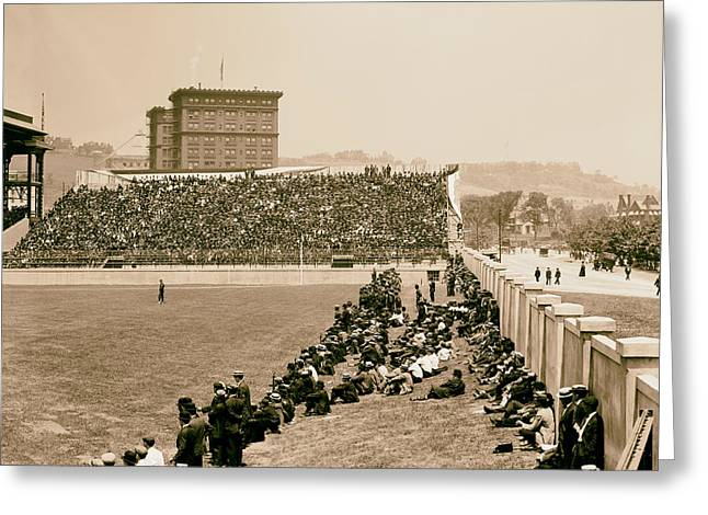 Pittsburgh's Forbes Field 1910s Greeting Card by Mountain Dreams