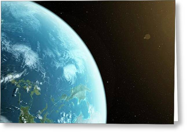 Planet Earth Greeting Card by Sciepro