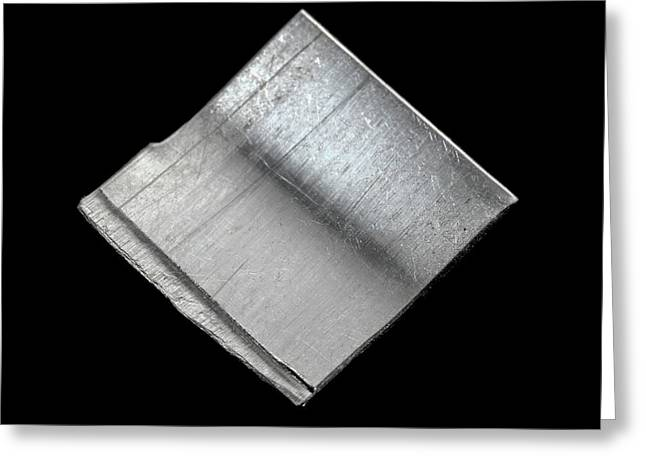 Platinum Greeting Card by Science Photo Library