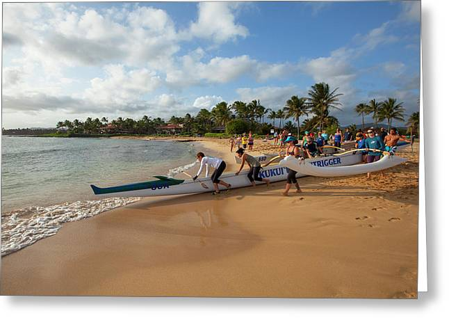 Poipu Beach Park, Poipu, Kauai, Hawaii Greeting Card by Douglas Peebles