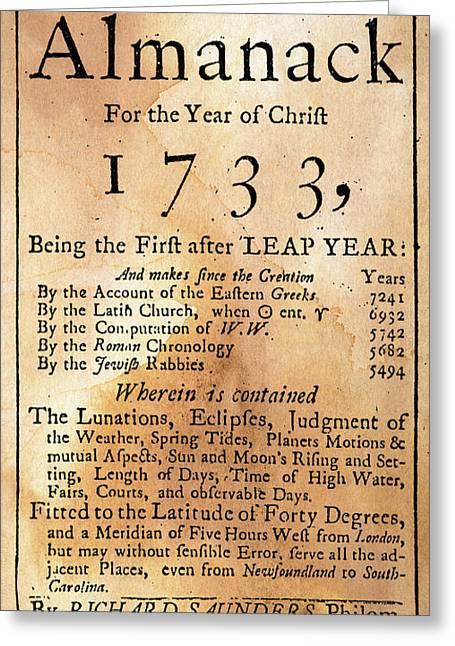 Poor Richard's Almanack Greeting Card by Granger
