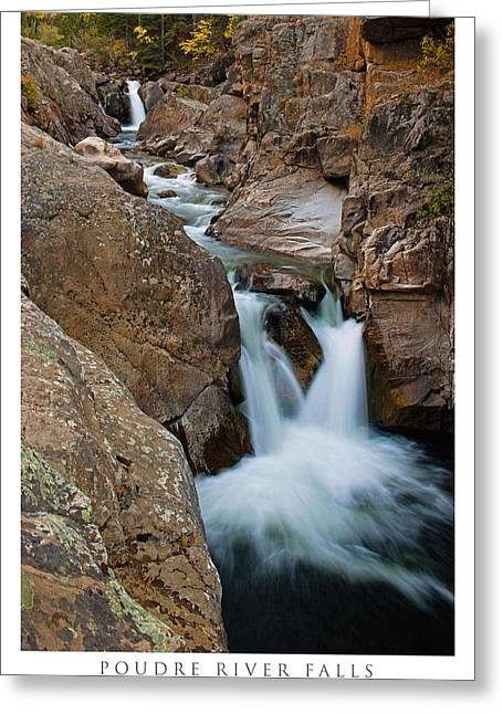 Poudre River Falls Fort Collins Greeting Card by Posters of Colorado