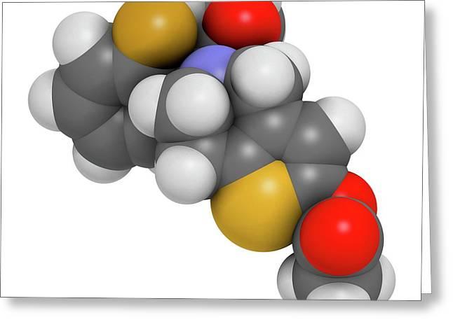 Prasugrel Platelet Inhibitor Drug Greeting Card by Molekuul