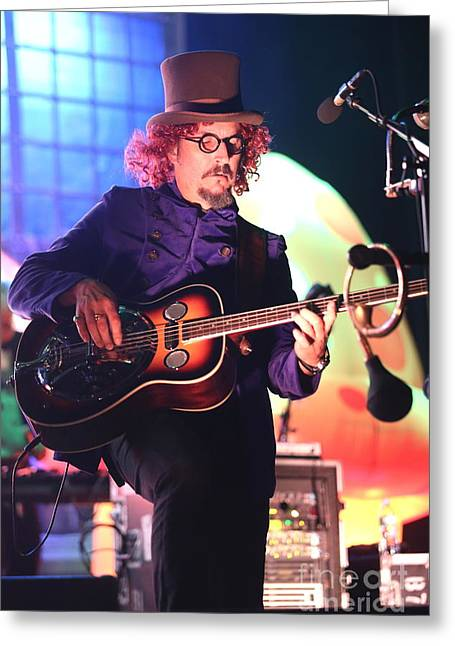 Primus Les Claypool  Greeting Card by Concert Photos