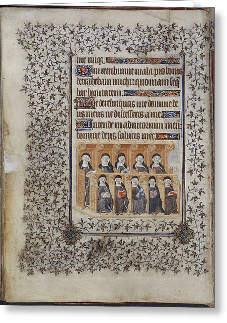 Psalter Of Henry Vi Greeting Card by British Library