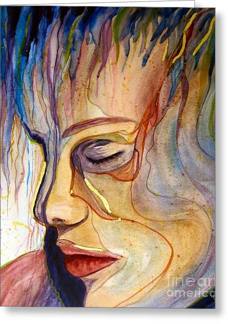 Purple Rain Greeting Card by Diana Bursztein