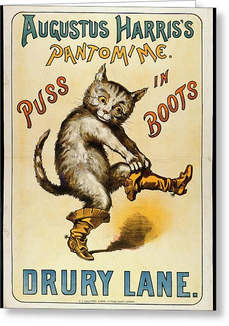Puss In Boots Greeting Card by British Library