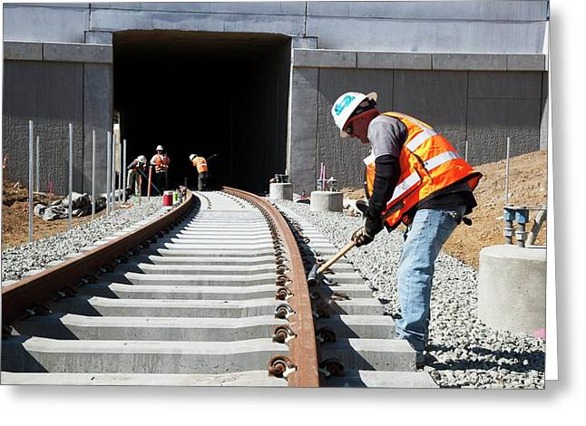 Railway Construction Greeting Card