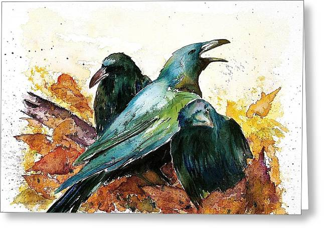 3 Ravens Greeting Card