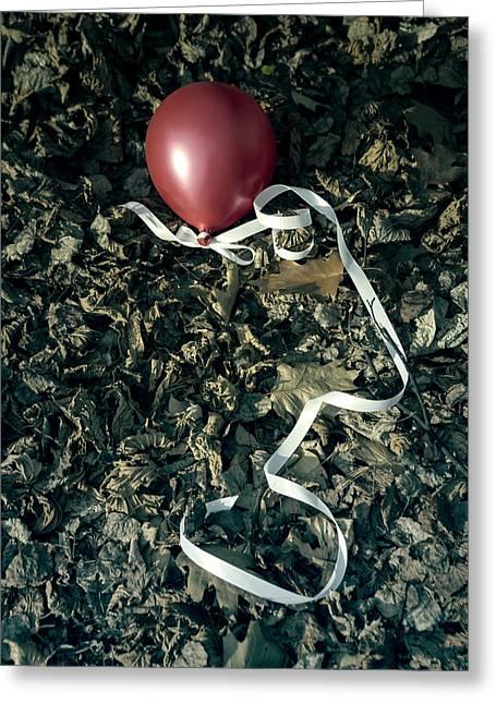 Red Balloon Greeting Card by Joana Kruse
