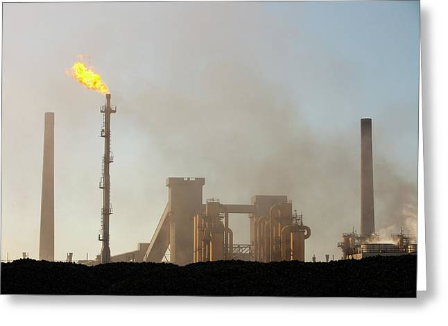 Redcar Steel Works Greeting Card
