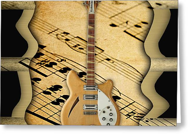 Rickenbacker Guitar Collection Greeting Card by Marvin Blaine
