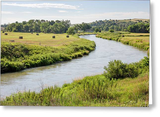River In The Nebraska Sandhills Greeting Card by Jim West