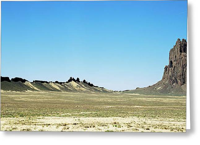 Rock Formations On An Arid Landscape Greeting Card by Panoramic Images