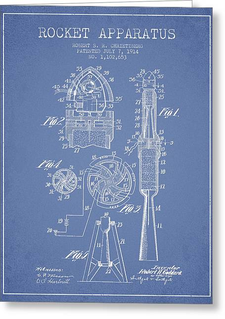 Rocket Apparatus Patent From 1914 Greeting Card