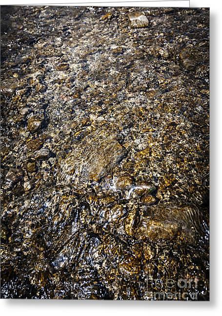 Rocks In Water Greeting Card by Elena Elisseeva
