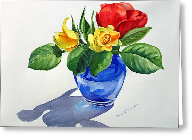 Roses Greeting Card by Irina Sztukowski