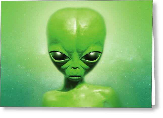 Roswell Alien Greeting Card by Detlev Van Ravenswaay