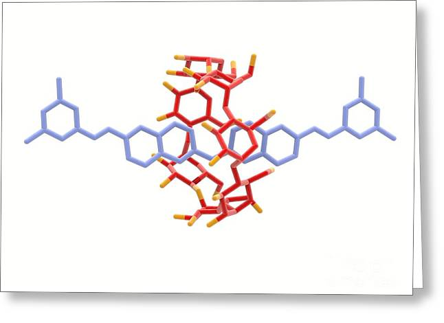 Rotaxane, Molecular Crystal Structure Greeting Card by Alfred Pasieka